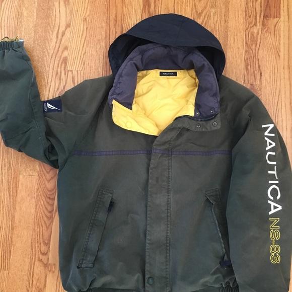 Nautica Jackets Coats Mens Vintage Ns83 Spellout Puffy Jacket